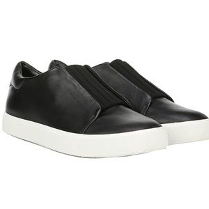VINCE Cantara Leather Slip-on Sneakers Black